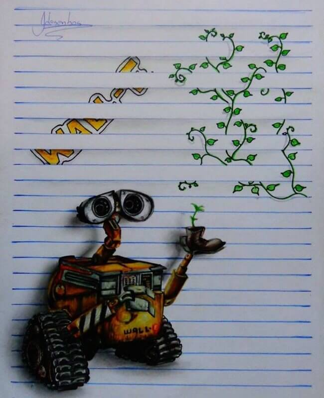 3D Notebook Drawing 9