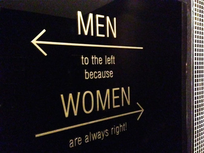 Creative Bathroom Sign 8