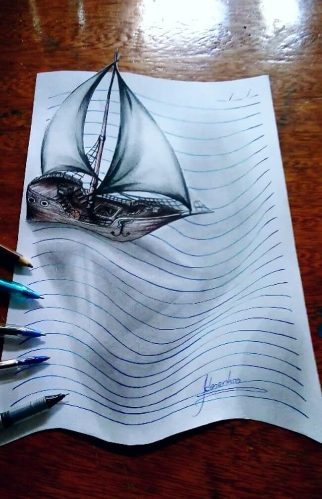 3D Notebook Drawing 4