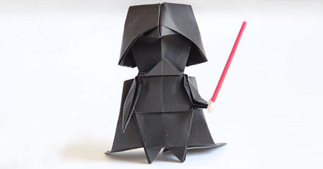 darth vader origami 1