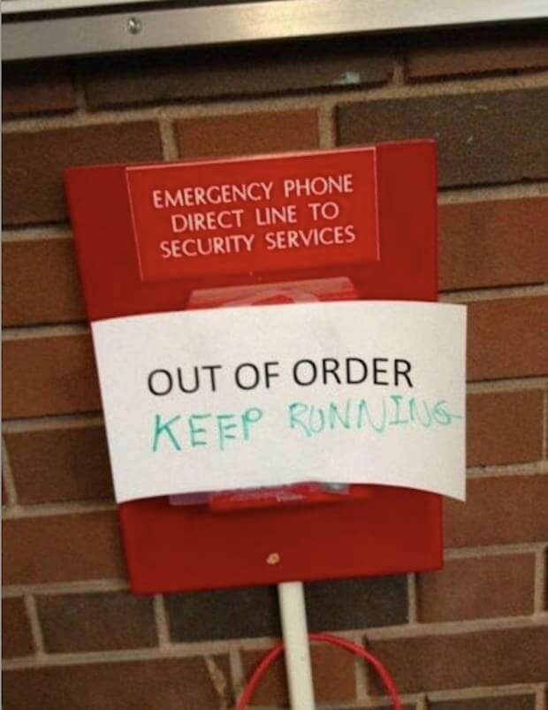 26 examples of the out of order sign that will get you so