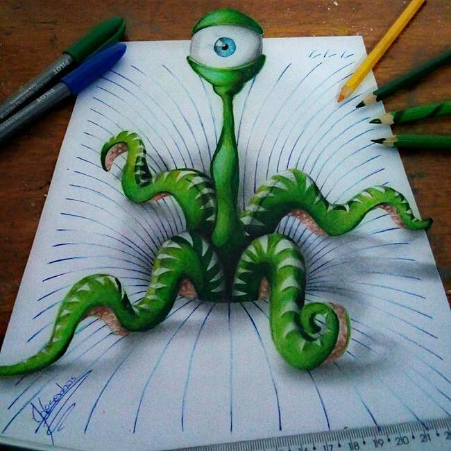 3D Notebook Drawings 3