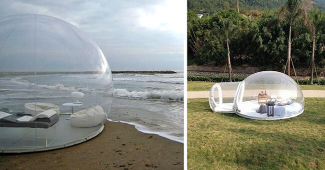 crystal bubble tent 1