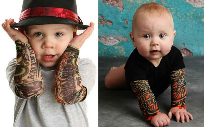 tattoo sleeves for BABIES feat