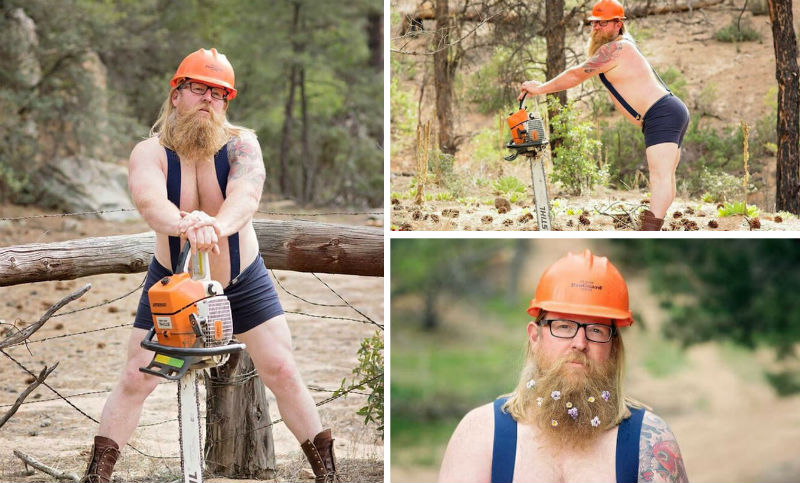 Bearded Man Pin-Up Calendar  feat