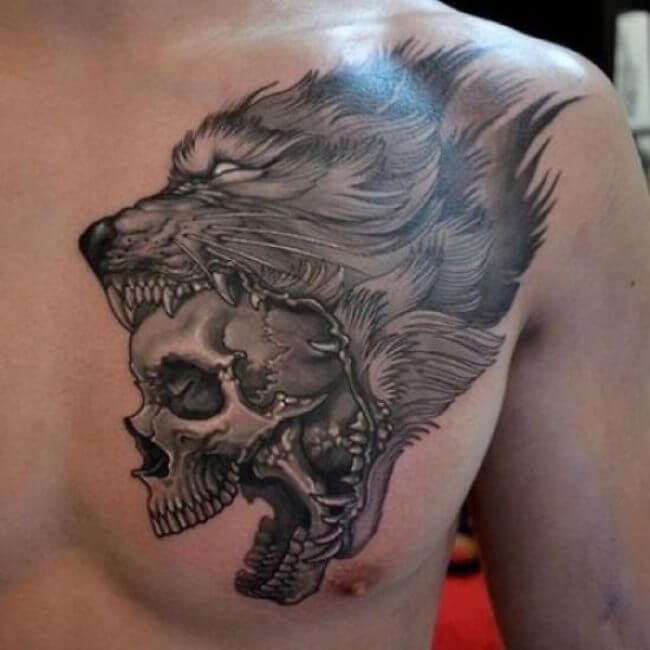 3 awesome tattoo idea of a wolf skeleton - Tattoo Idea Designs