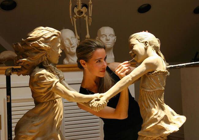 children bronze sculptures 3
