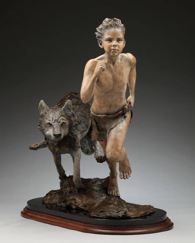 children bronze sculptures 2