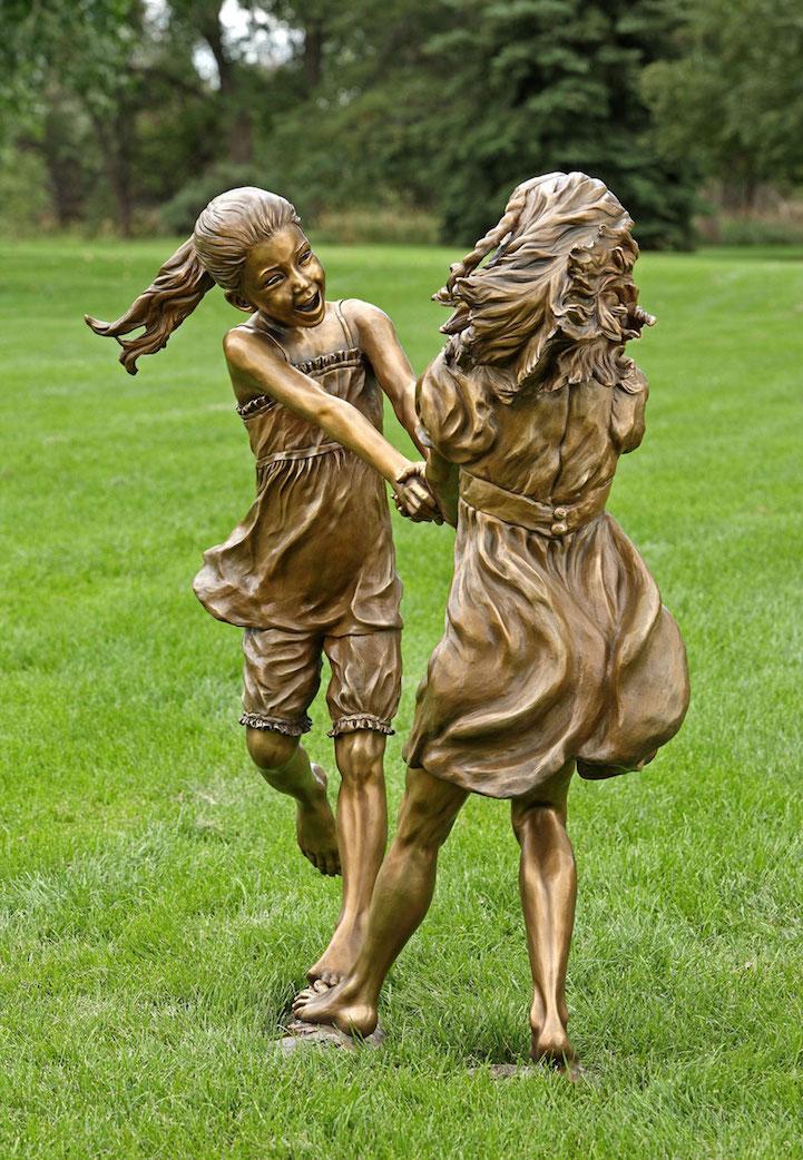 children bronze sculptures