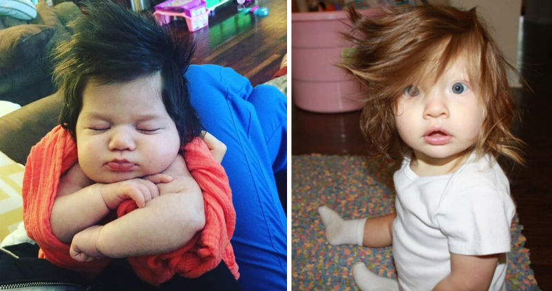 babies with hair feat