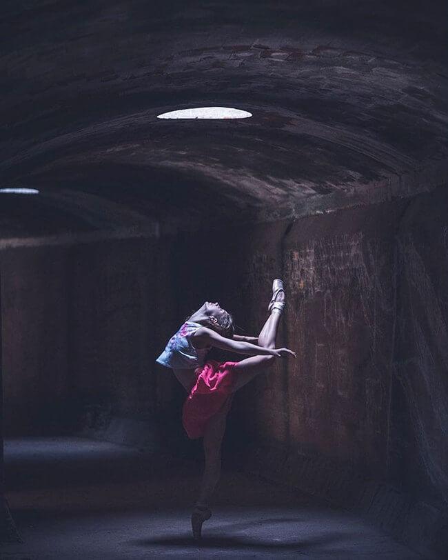Ballet Dancers On Streets Of Cuba 16