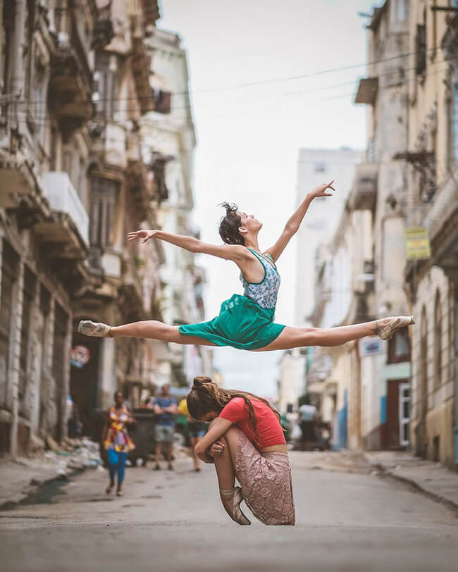 Ballet Dancers On Streets Of Cuba 2