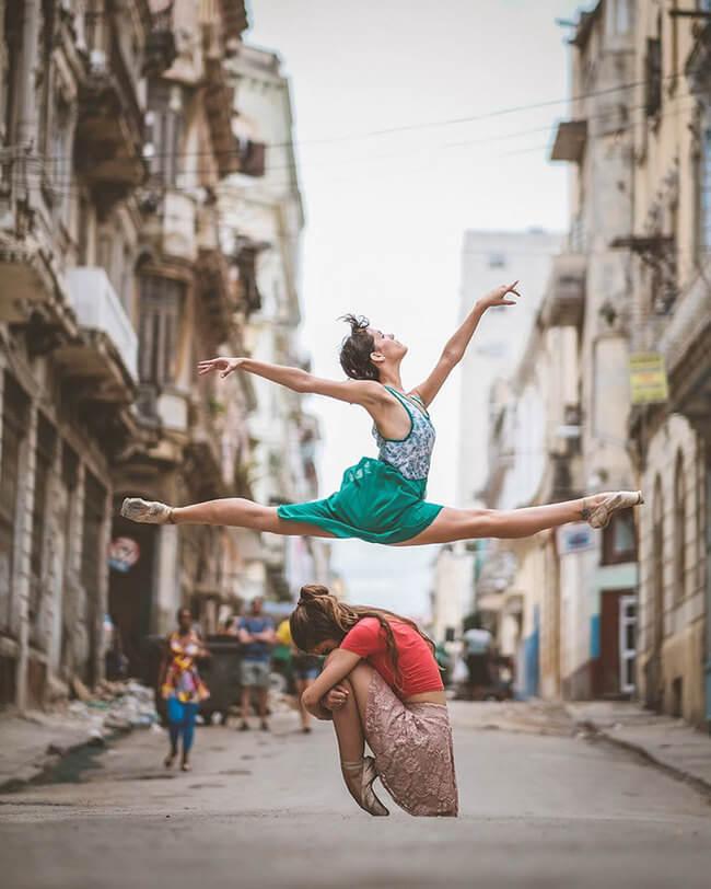 Ballet Dancers On Streets Of Cuba 2