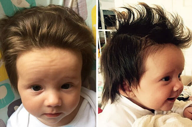 babies with lots of hair 18