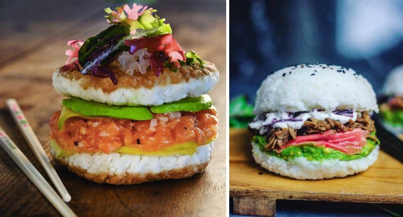 burger sushi feat