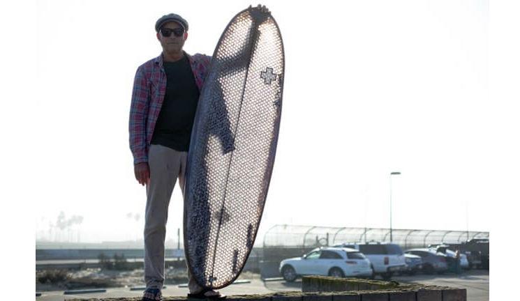 cardboard surfboard feat