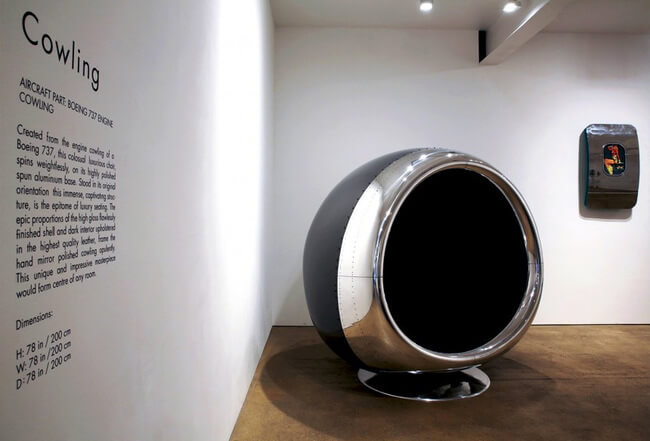 Chair Made Of a Repurposed Boeing 737 Engine 3