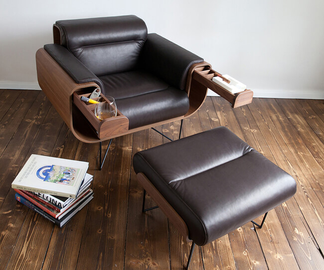 Leather Cigar Chair Recliner 1