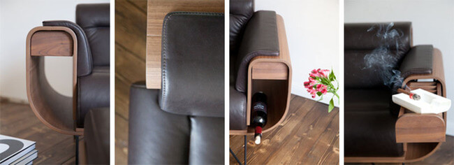Leather Cigar Chair Recliner 6