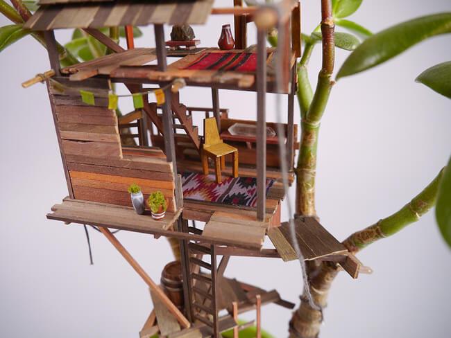 miniature Treehouses 8