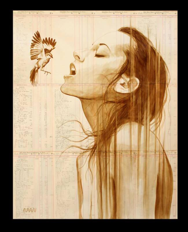 Stunning Portraits On Vintage Paper With Coffee 6 (1)