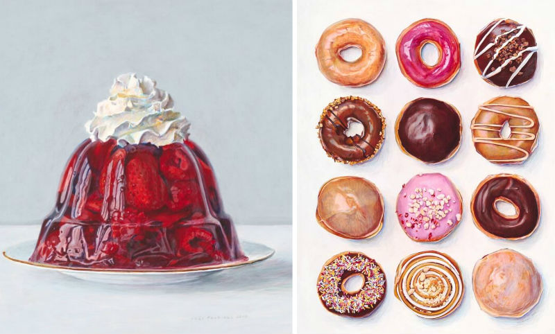 food art paintings feat