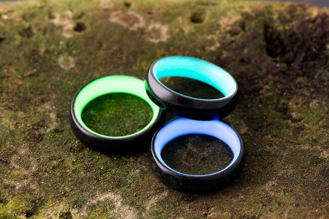 Carbon Fiber wedding rings 4