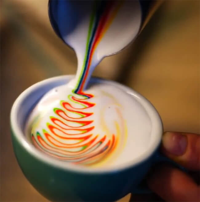 Colorful Latte Art 6