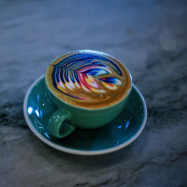 Colorful Latte Art 3