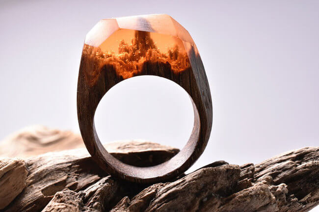 Miniature Wooden Rings 5
