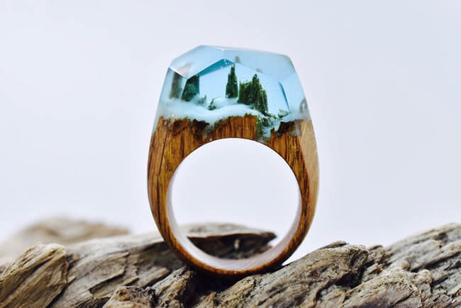 Miniature Wood Rings 8