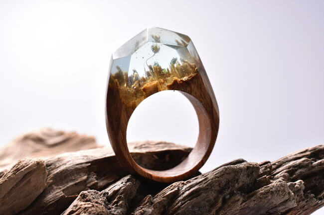 Miniature Wood Rings 10