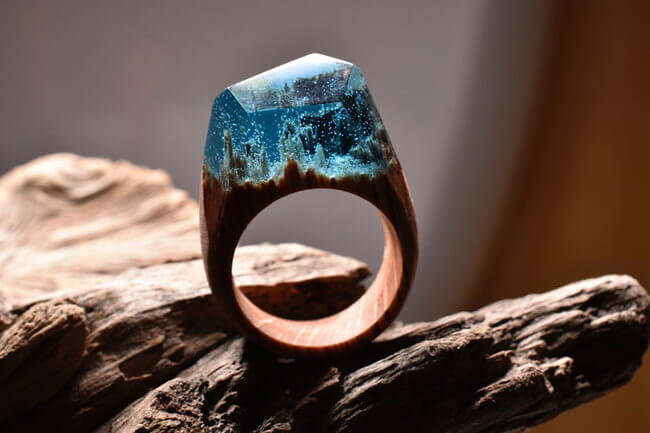 Miniature Wood Rings 7