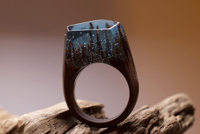 Miniature Wooden Rings 13