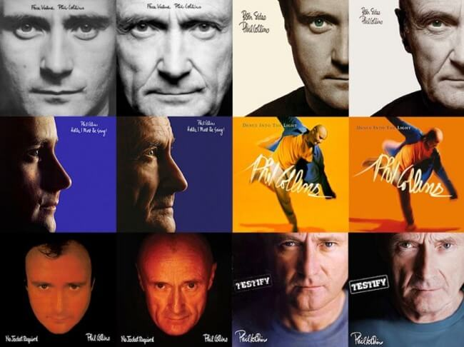 Phil Collins Recreates All His Original Album Covers 7