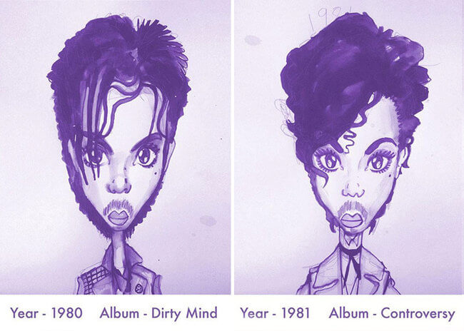 Prince's Hair Styles 3