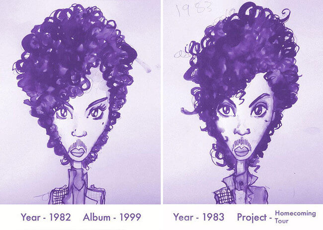 Prince's Hair Styles 4