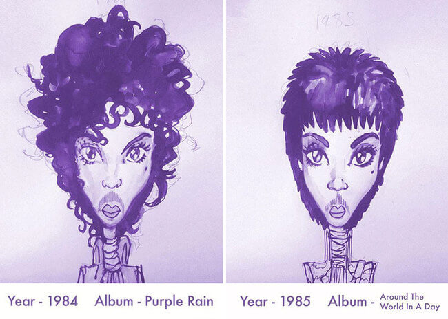 Prince's Hair Styles 5