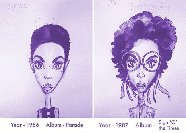 Prince's Hair Styles 6