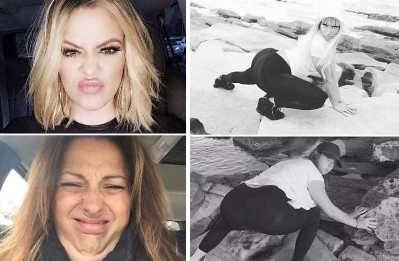 recreating celebrity photos feat