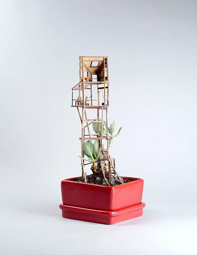 miniature Treehouse sculptures 10