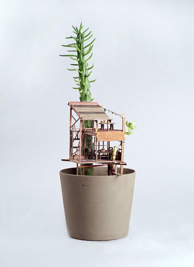 miniature Treehouse sculptures 2