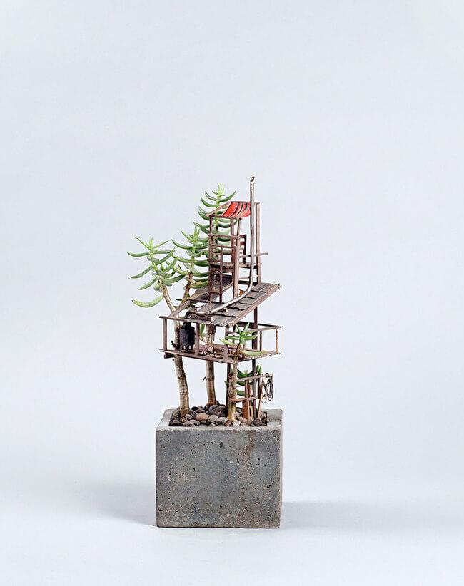 miniature Treehouse sculptures 3