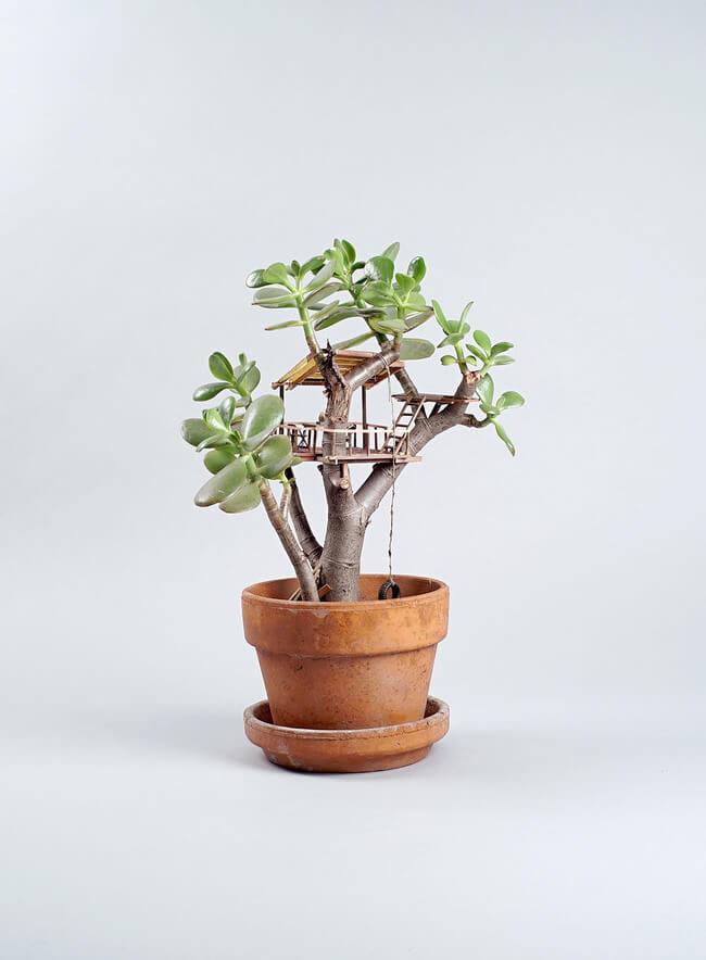 miniature Treehouse sculptures 5