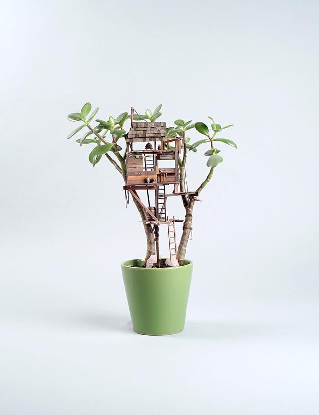miniature Treehouse sculptures 6