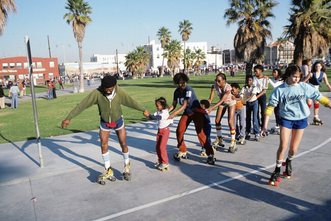 Vintage Venice Beach Roller Skaters Photos 14
