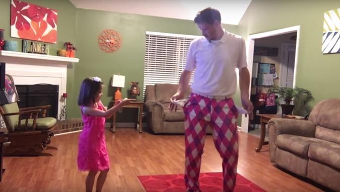 Dad and Daughter Dancing To Justin Timberlake 2