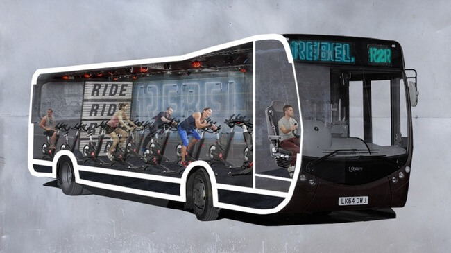 bus commute spinning studio 1