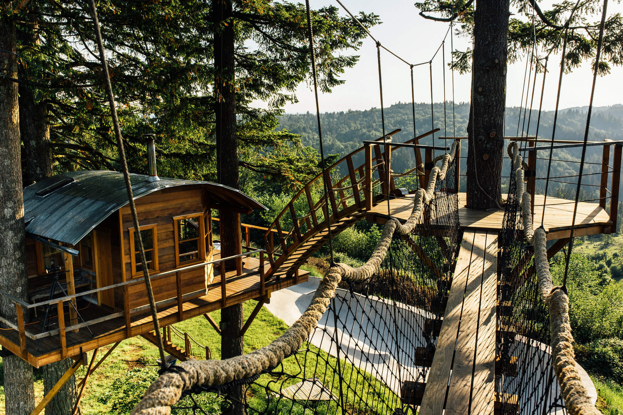 Guy Quits His Job To Build A Cool Tree House And Live Like