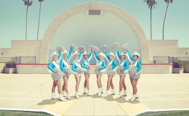 elderly cheerleaders